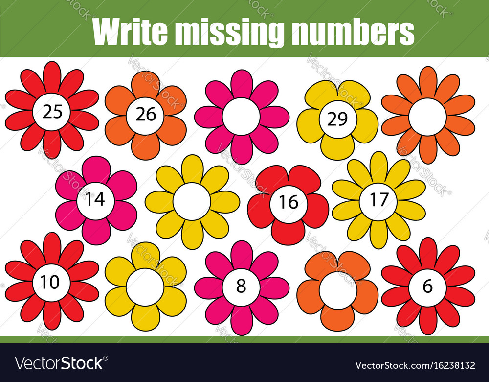 Mathematics educational game for children write Vector Image