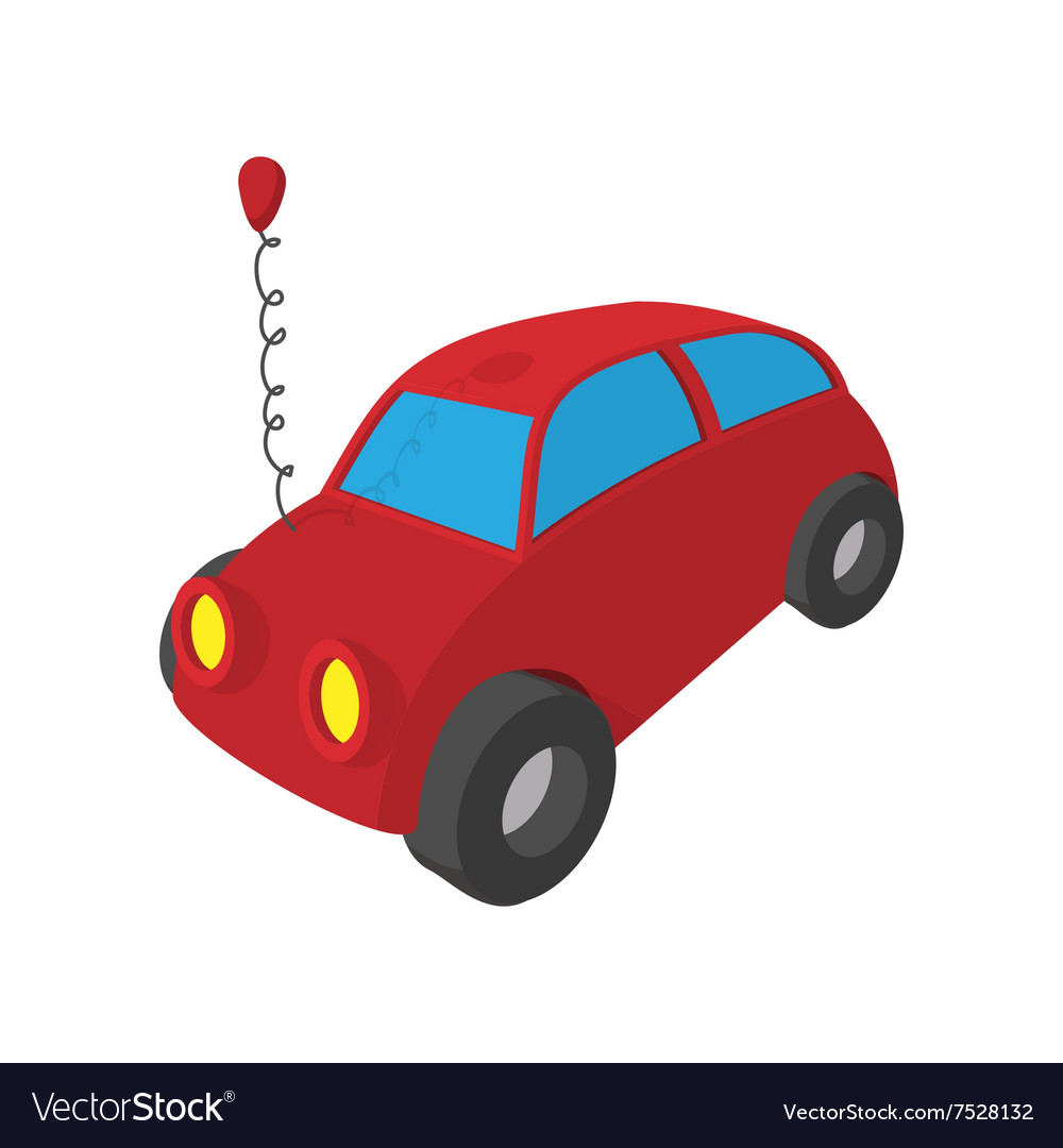 Toy Red Car Cartoon Icon Royalty Free Vector Image