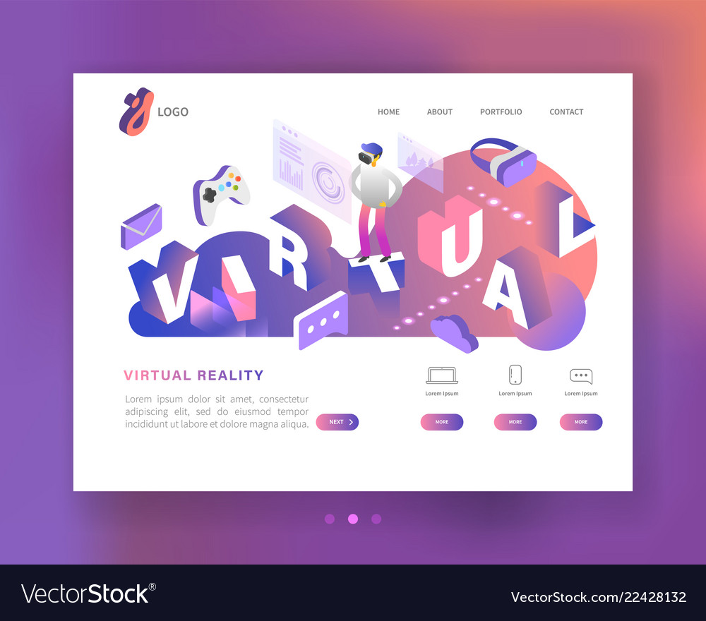 Virtual reality isometric concept augmented