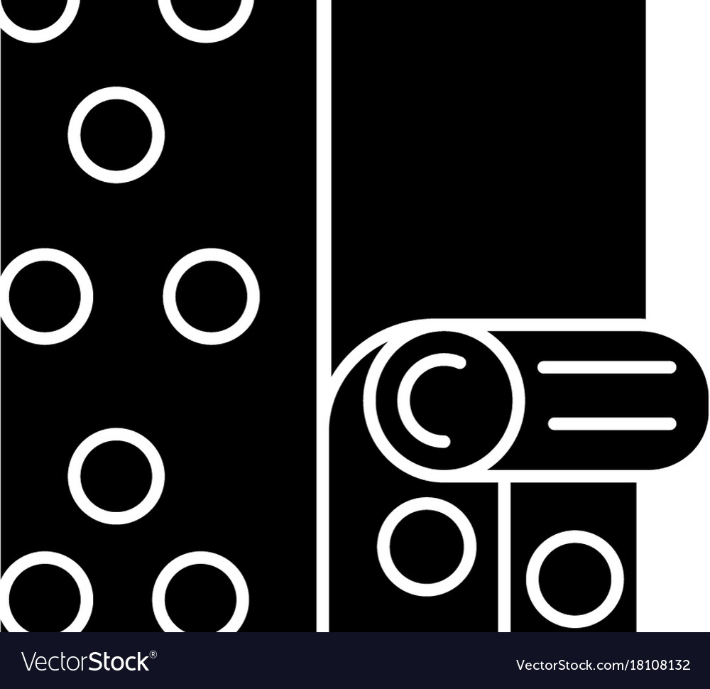 Wallpaper icon black sign on vector image