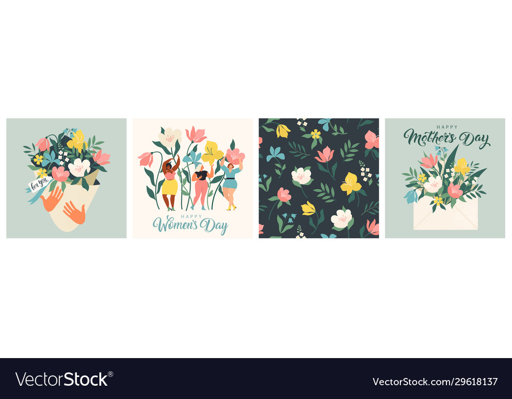 Happy womens day march 8 cute cards and posters