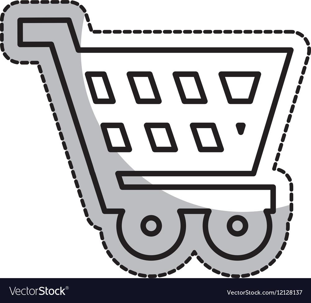 Shopping cart commercial icon vectorimage