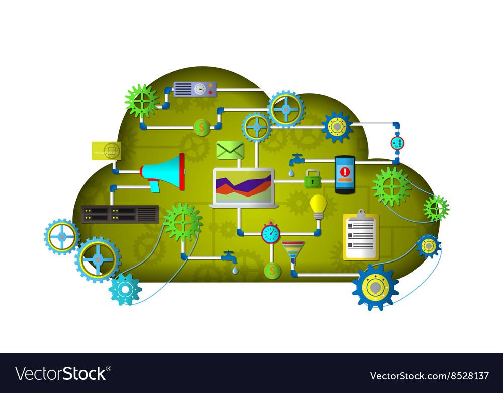 Web Cloud services vector image