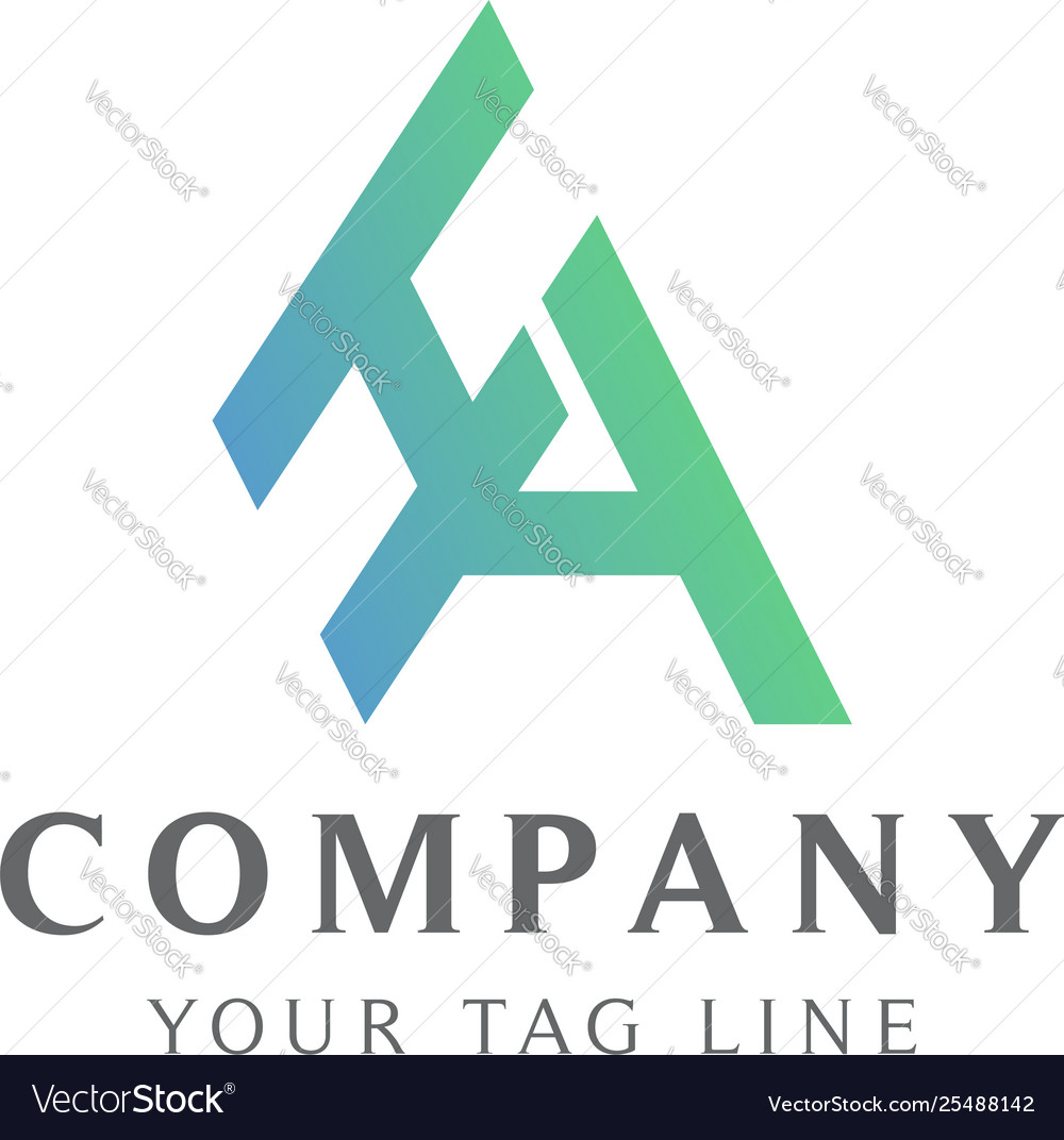 Abstract ha logo with color gradation