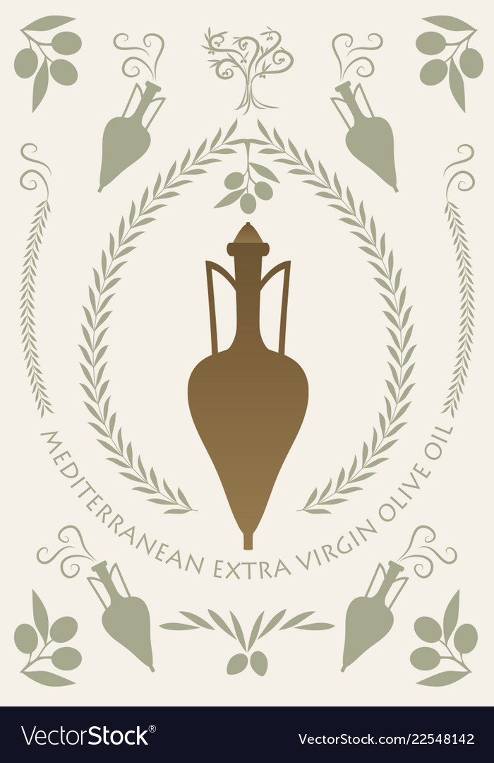 Ancient greek or roman amphoras and olive oil