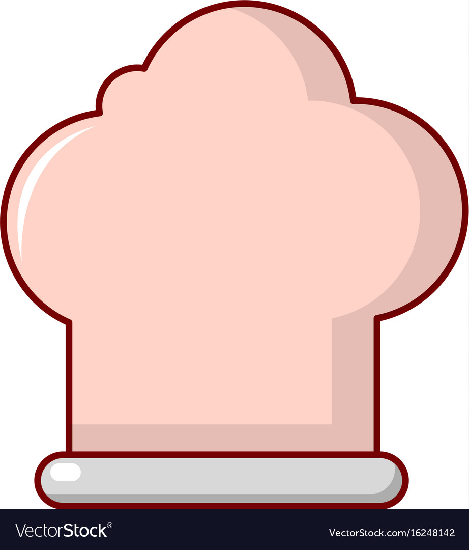 Chef hat icon cartoon style vector image
