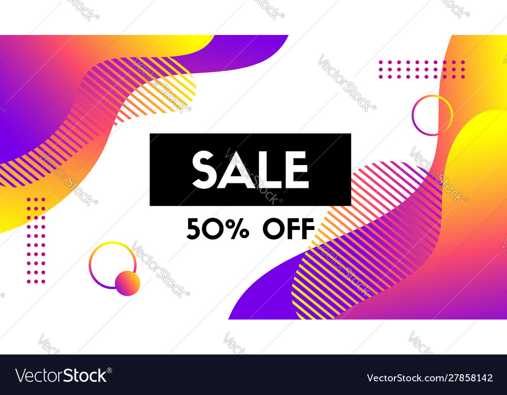 Sale banner template abstract background