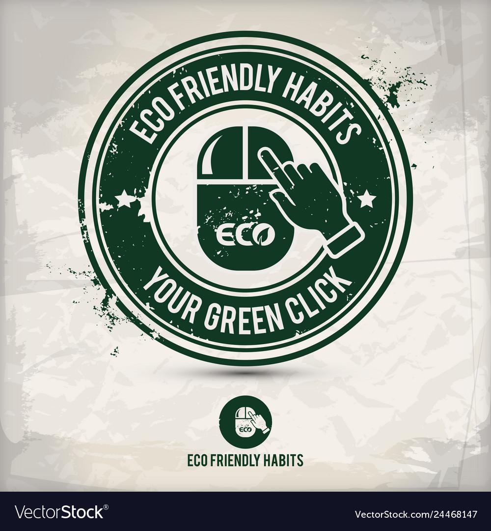 Alternative eco habits stamp