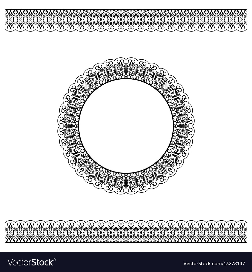 Black detailed border and circle frame