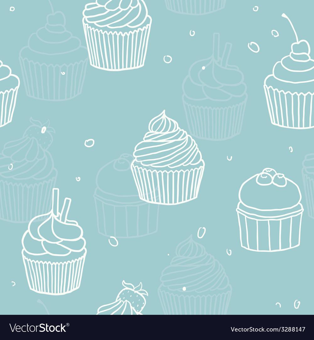 Blue cupckes pattern