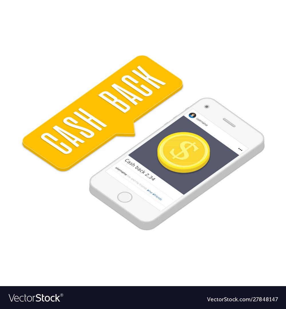 Cash back concept