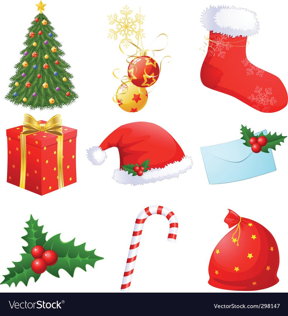 Christmas symbols Royalty Free Vector Image - VectorStock