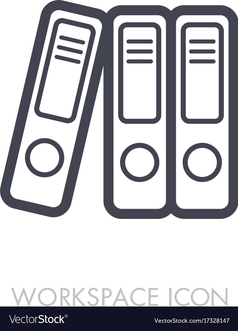 File folder outline icon workspace sign vector image