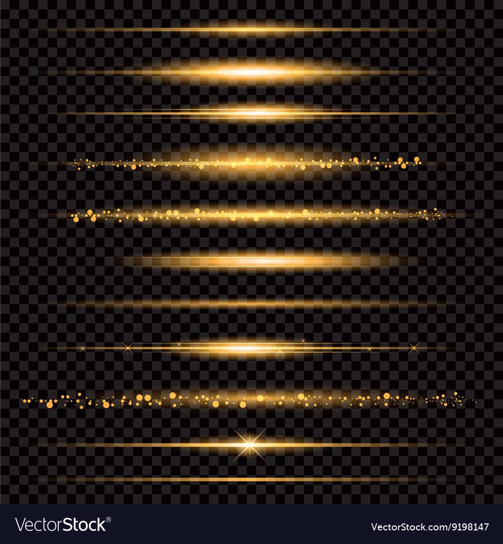 Gold glittering star dust trail sparkling