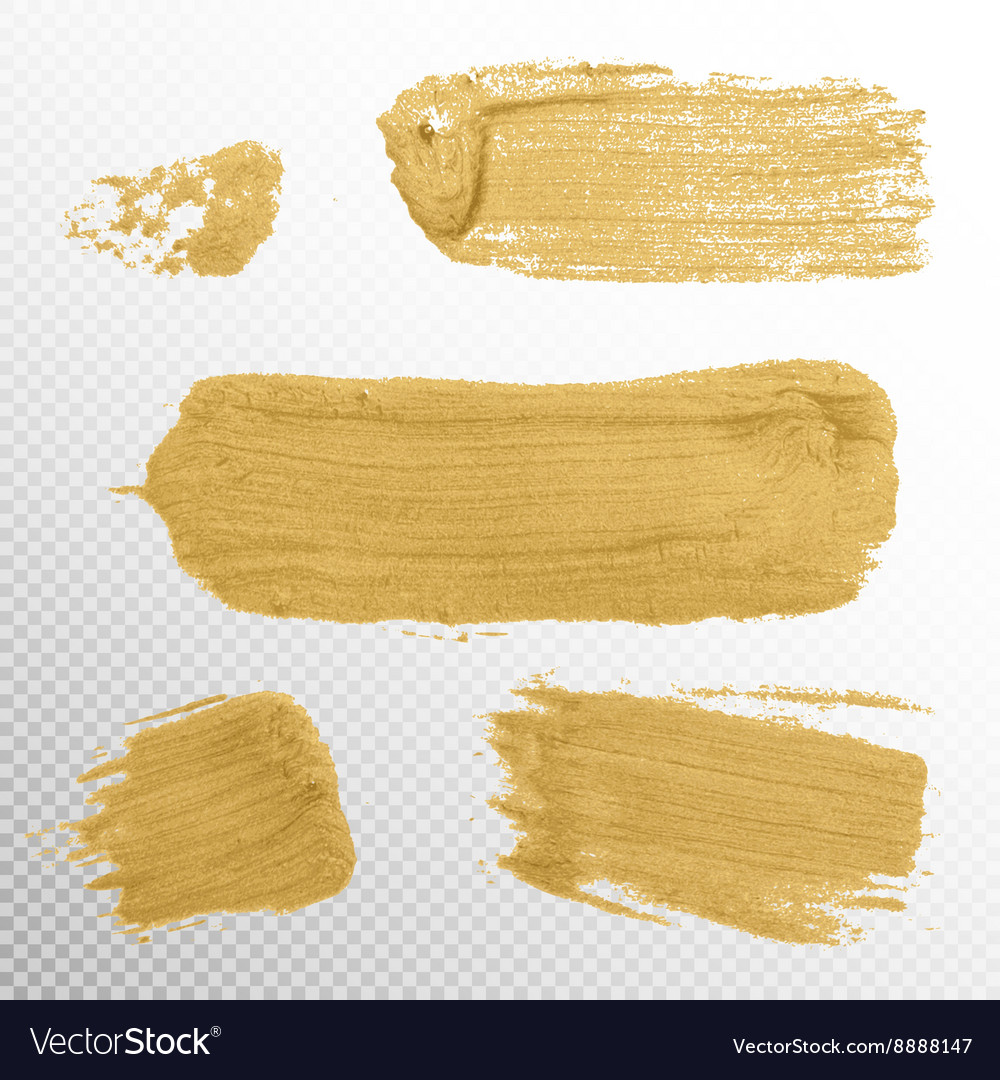 Gold Texture Paint Stain EPS 10
