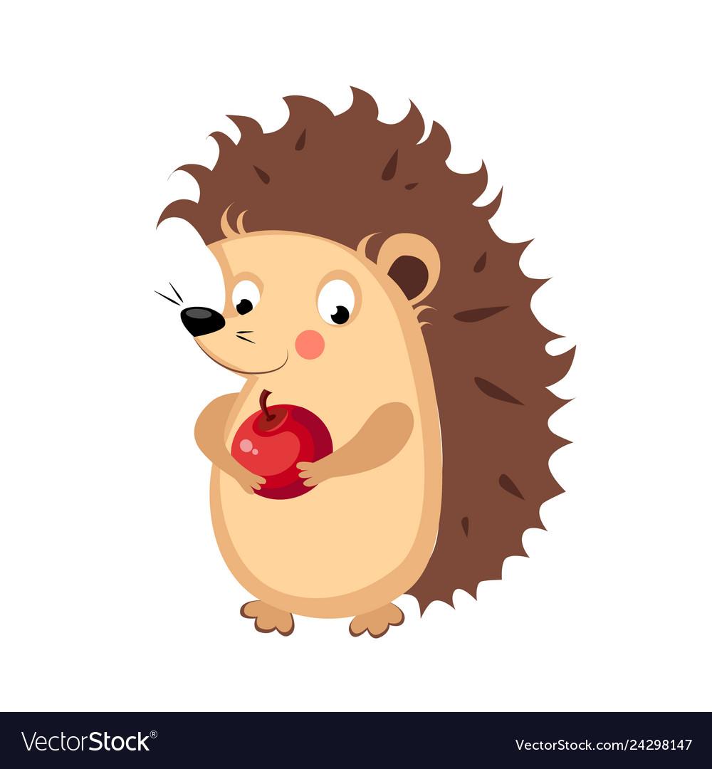 Hedgehog funny alphabet animal