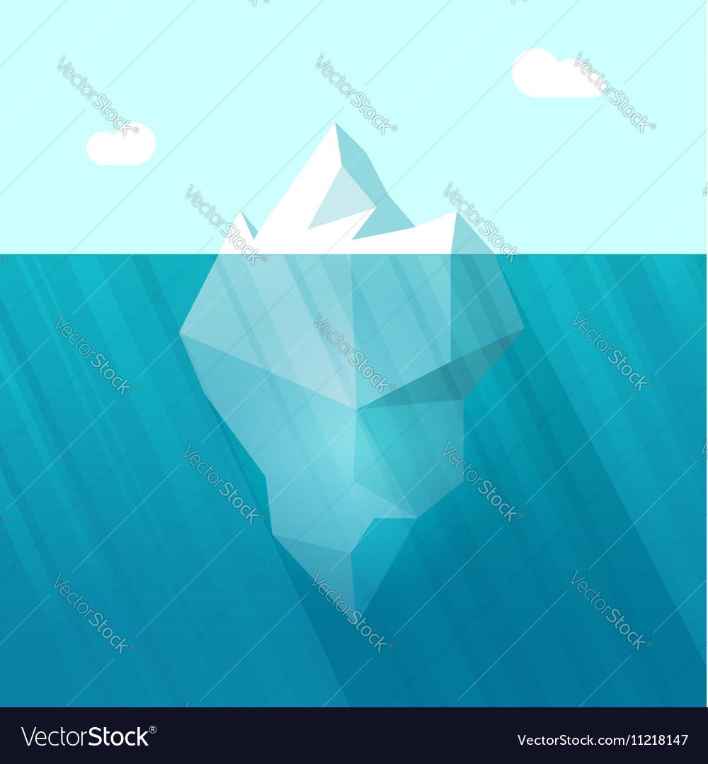 Iceberg big berg in ocean royalty free vector image for Clipart iceberg