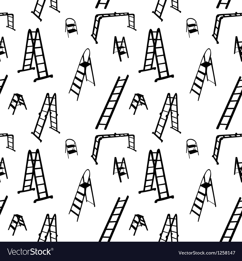 Seamless pattern of ladder silhouette vector image