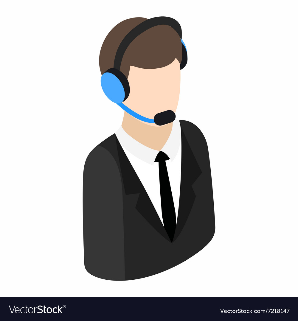 Service operator isometric 3d icon vector image
