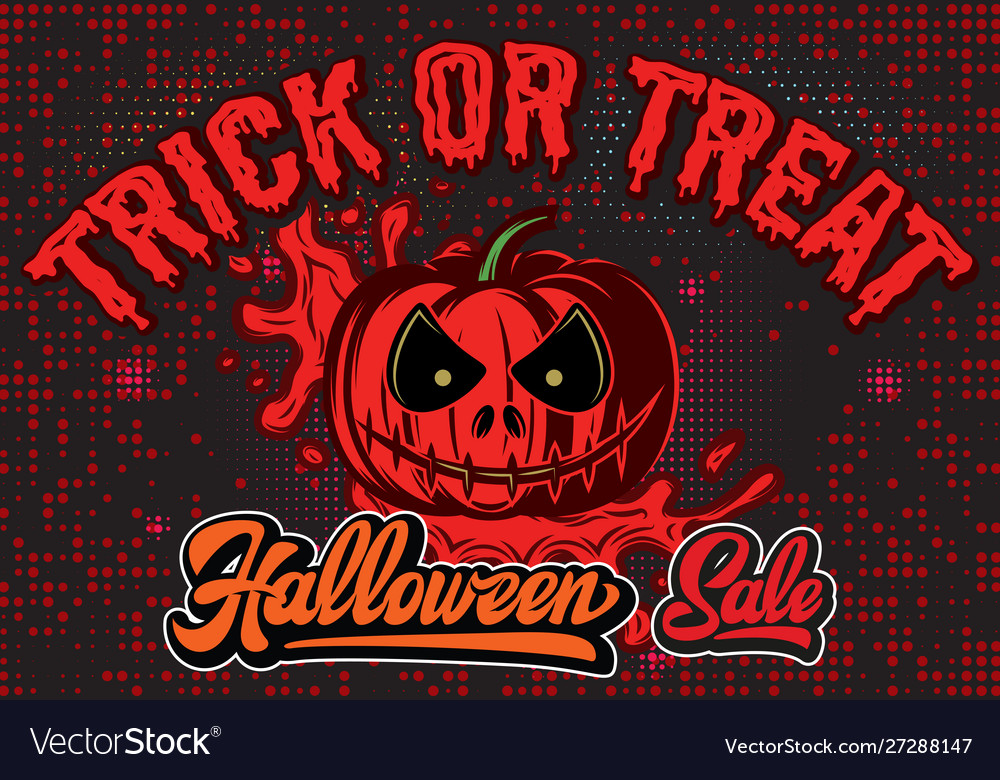 Stylish color party poster for halloween