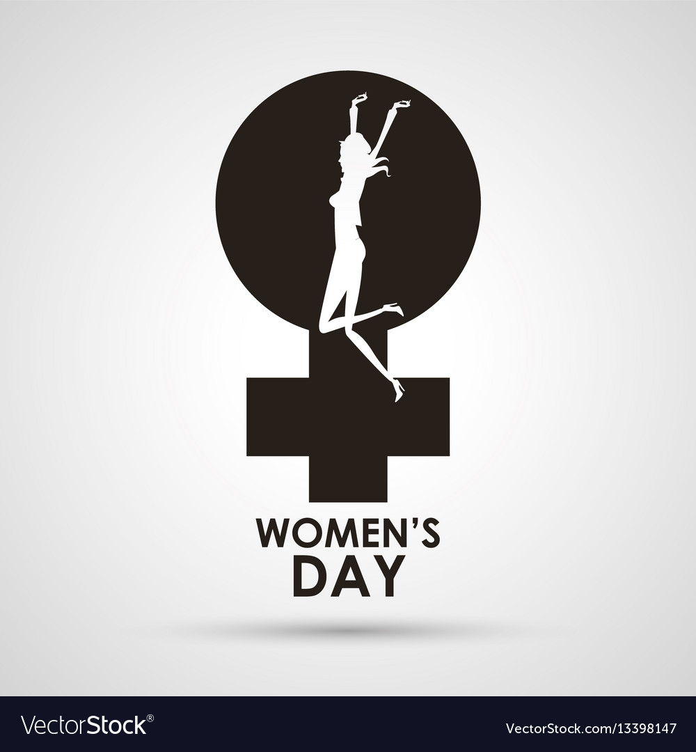 Womens day gender symbol with girl