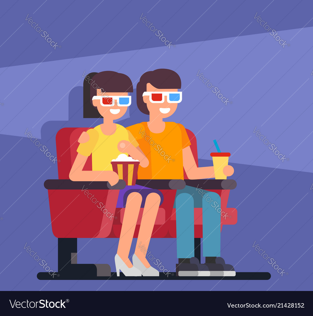 Couple seating in cinema