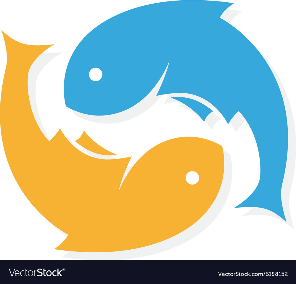 Fish logo design template infinity