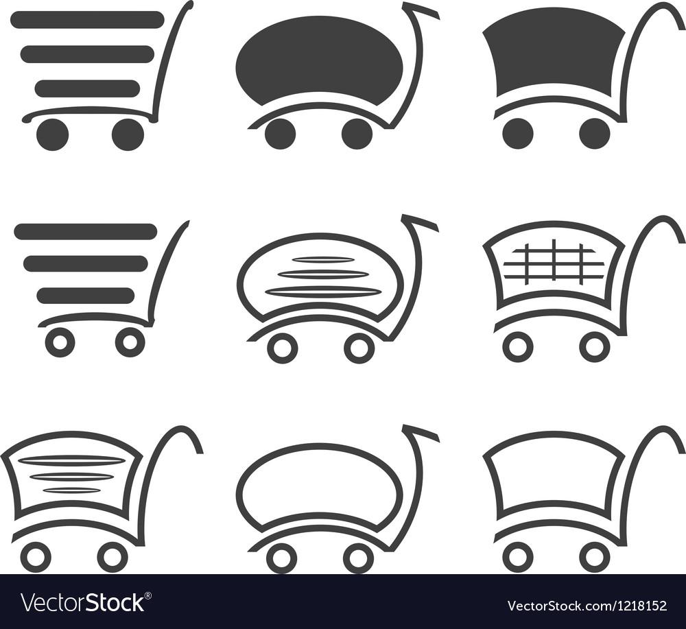 Icon set shopping vector image