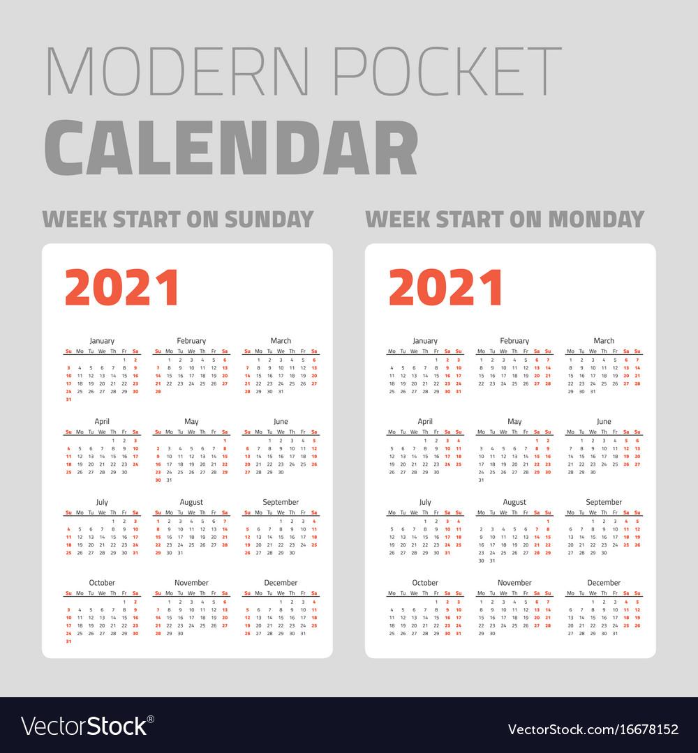 2021 Pocket Calendar | Printable March