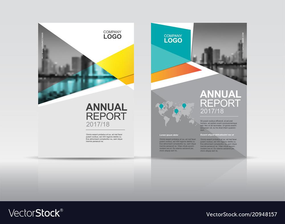 Annual report brochure cover design template