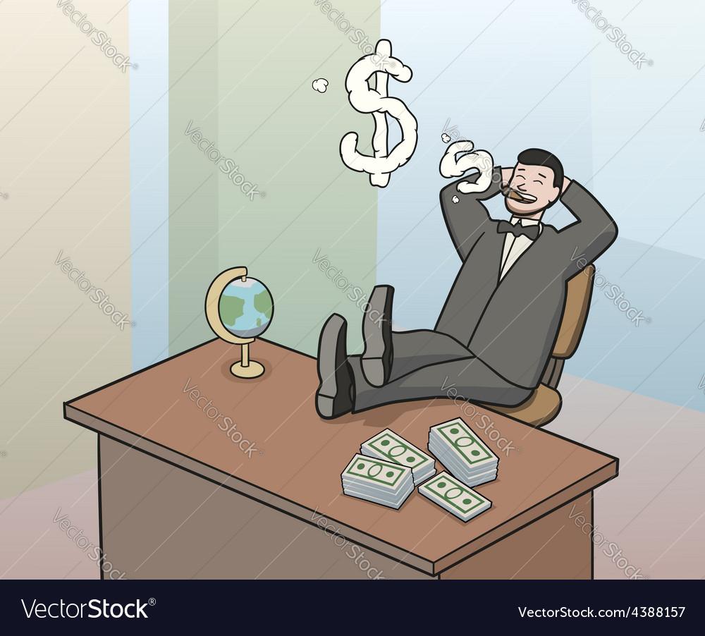 Businessman smoke
