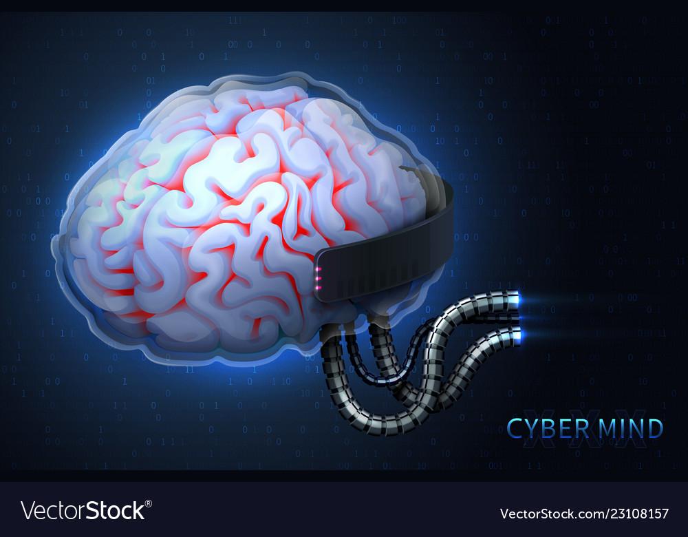 Cyberpunk technology of the future cyber mind