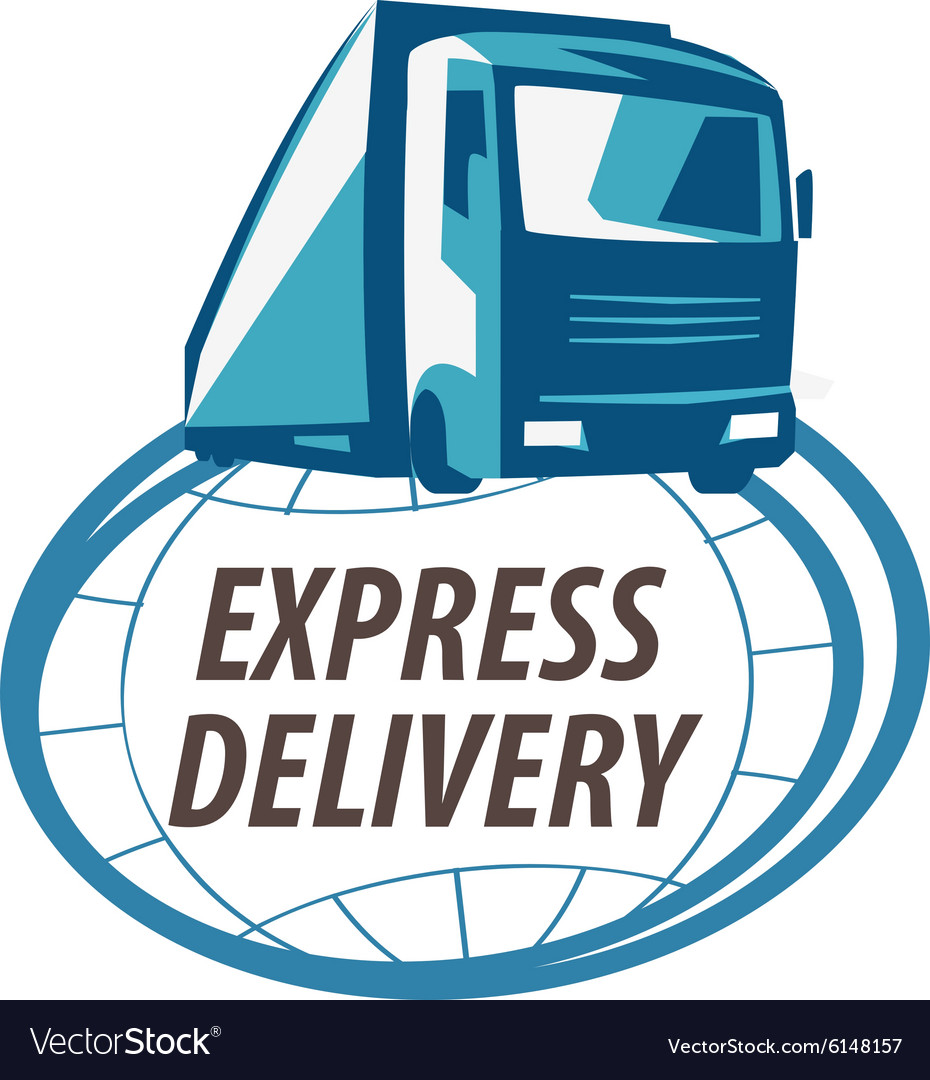 delivery logo design template truck or royalty free vector rh vectorstock com truck logos designs truck logos images