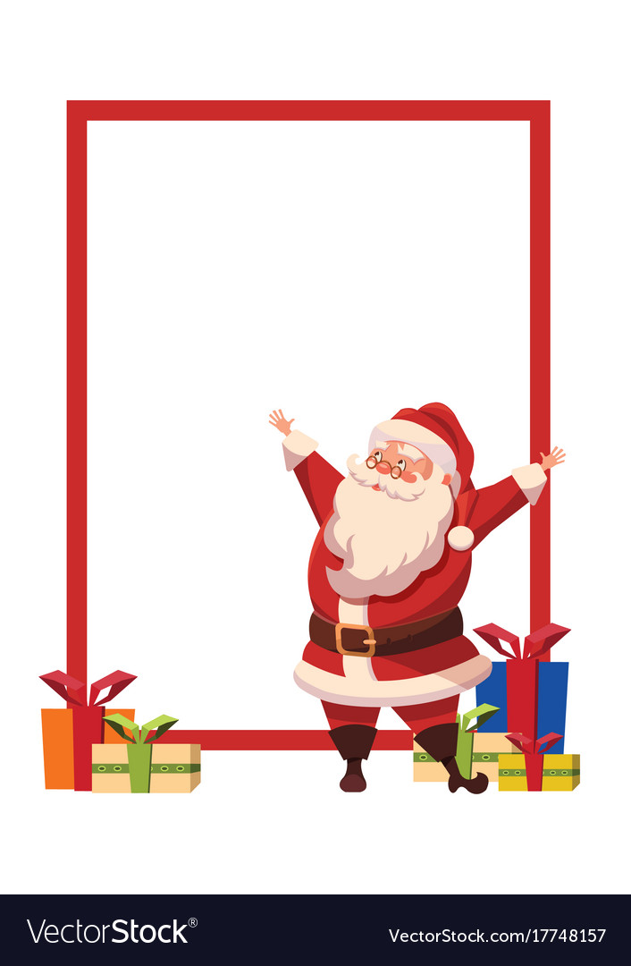 Design for xmas poster with christmas santa claus