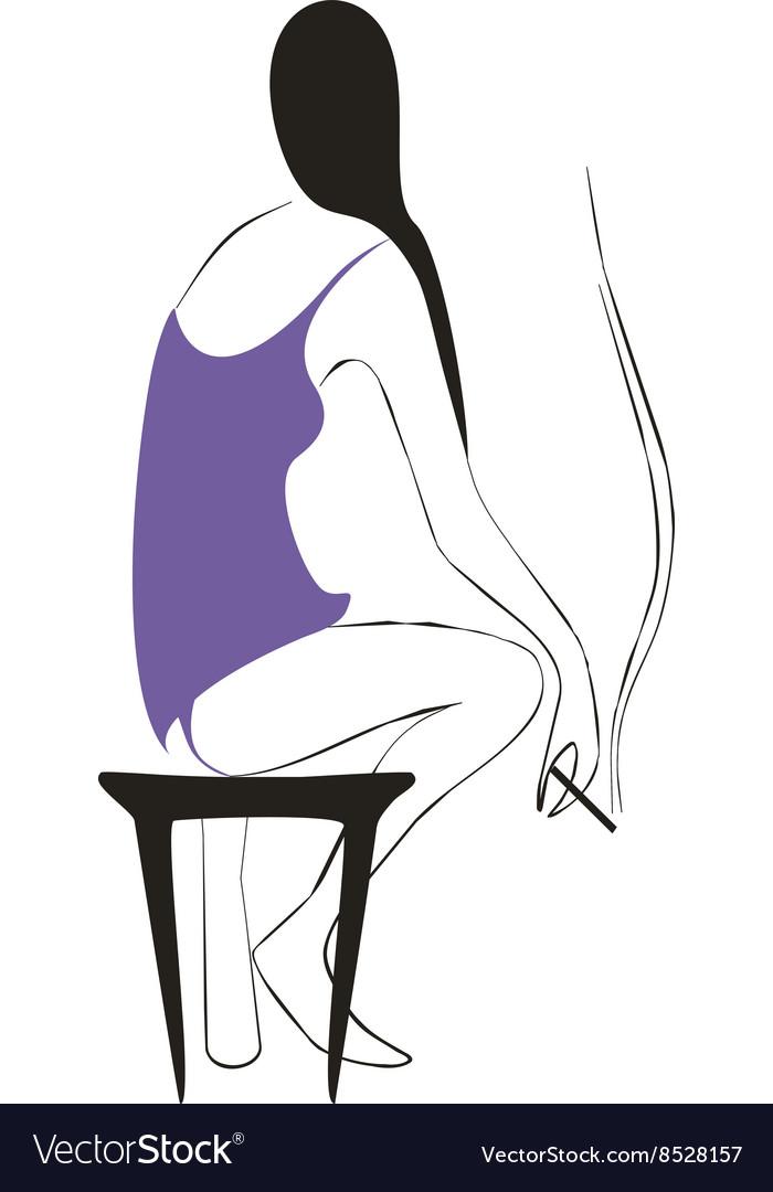 Girl silhouette 02