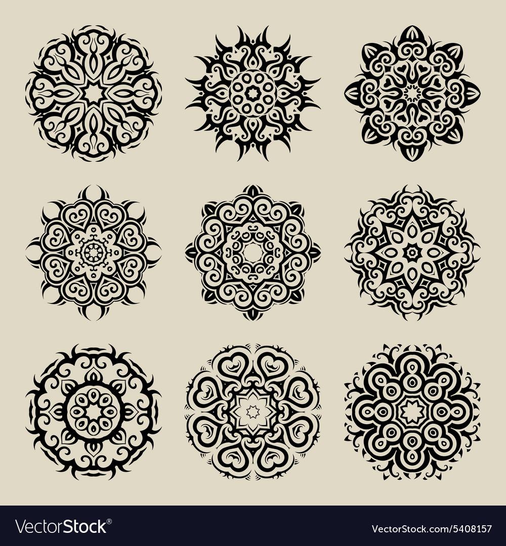 MandalaVintage pattern set
