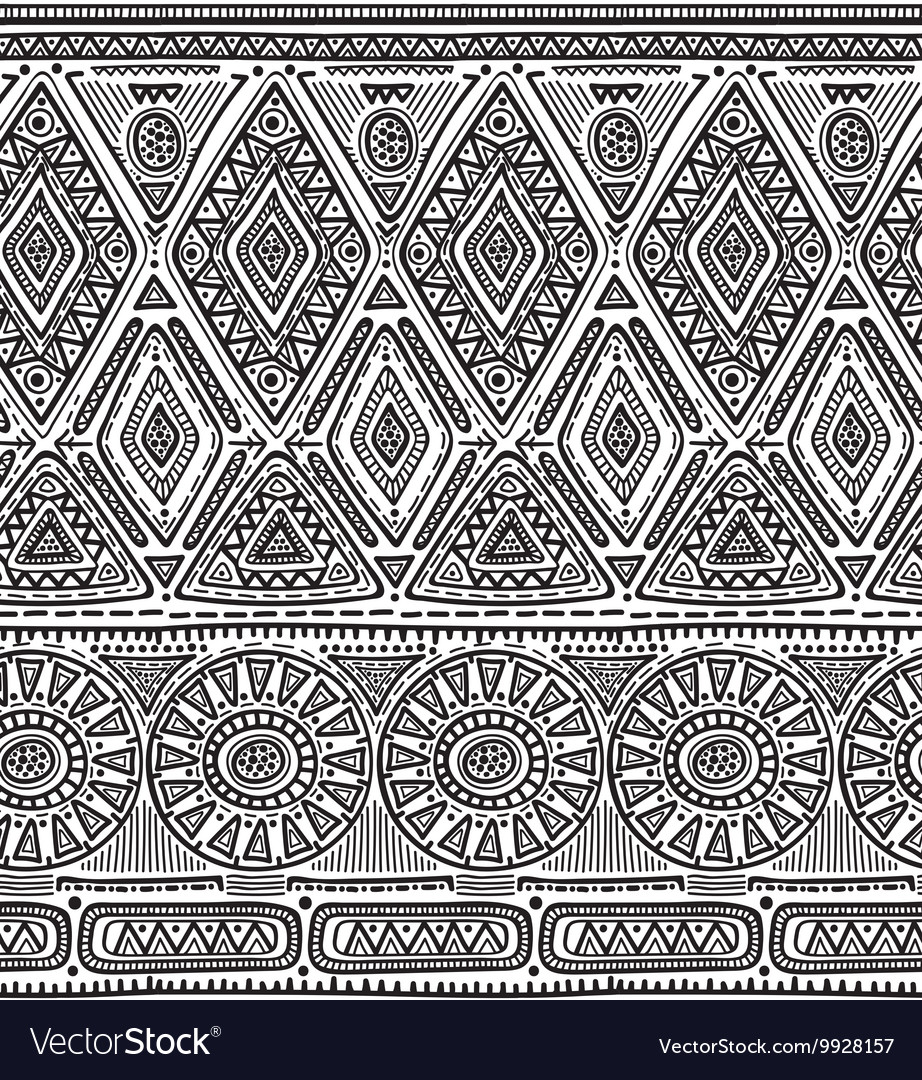 Seamless pattern for tribal design Ethnic