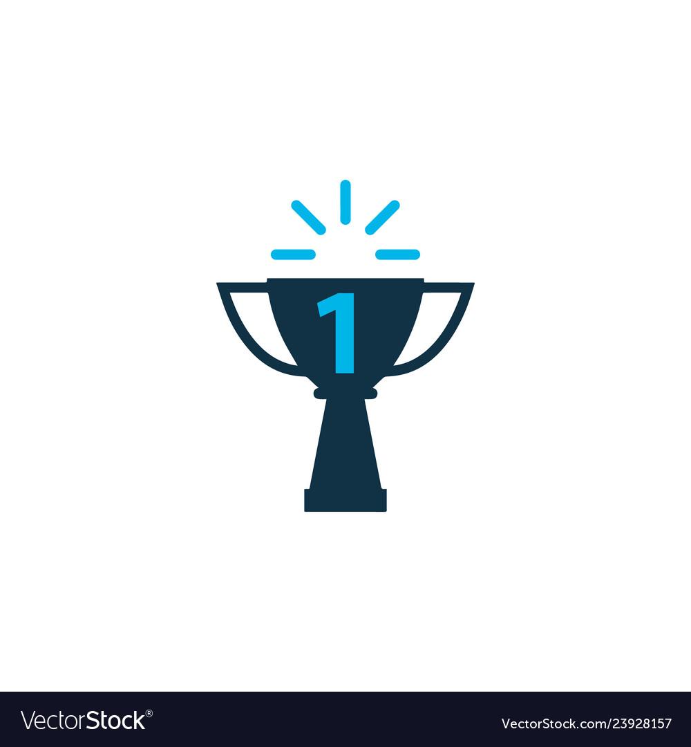 Success icon colored symbol premium quality