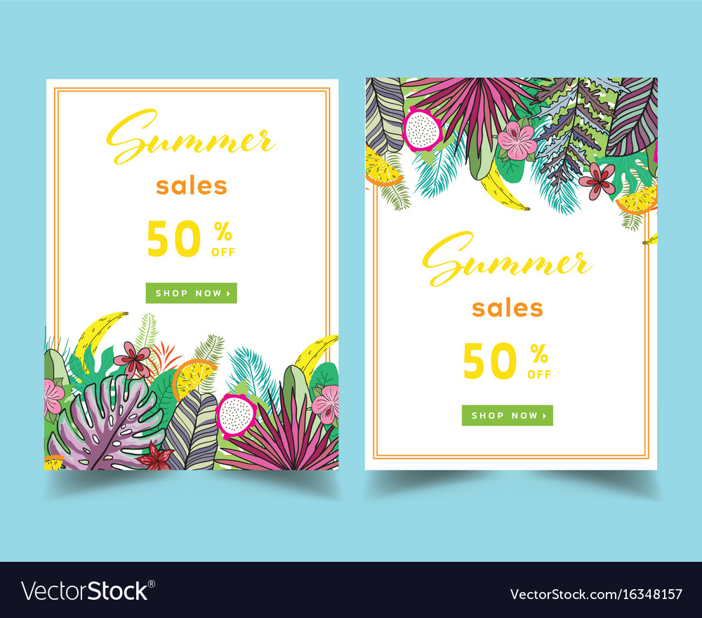 Summer sale background layout for banners