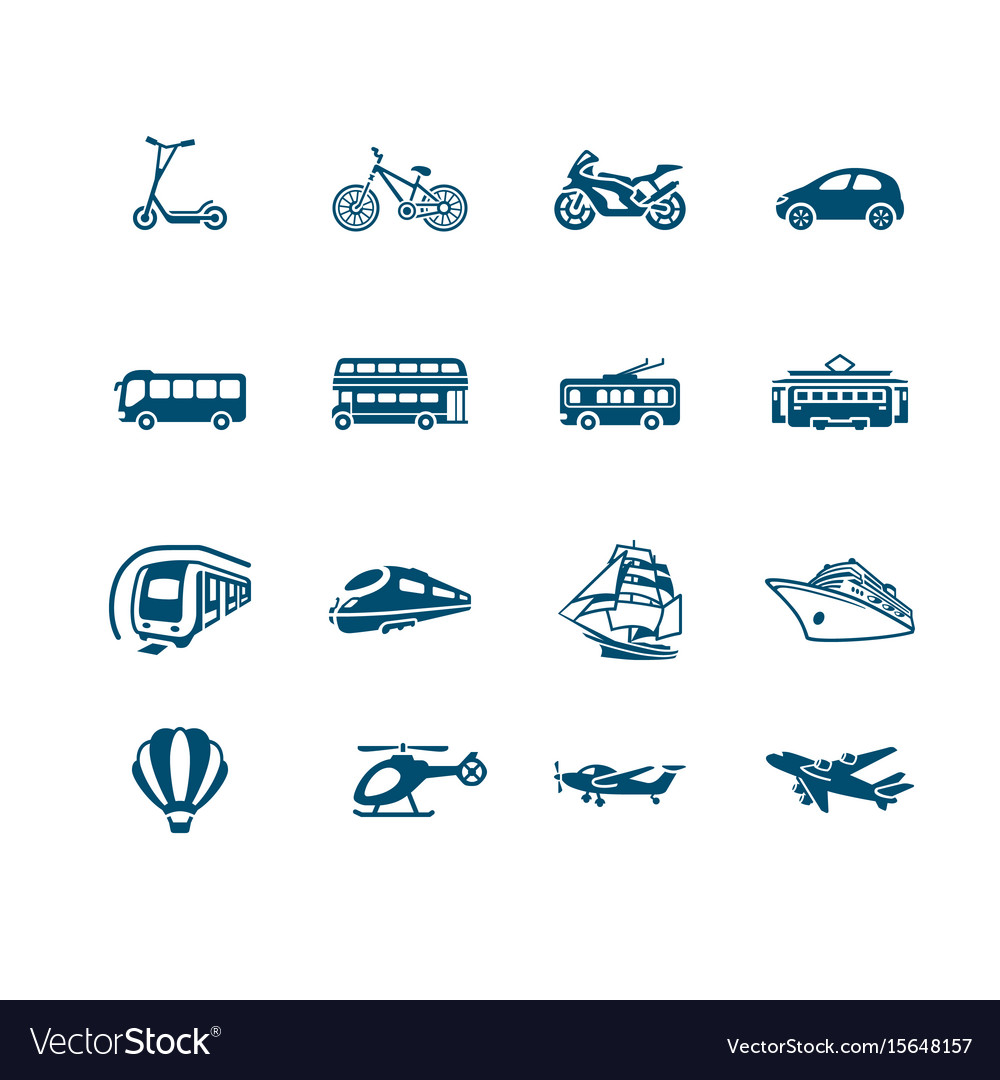 Transportation icons - micro series