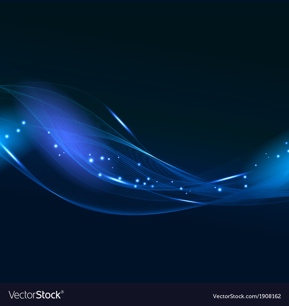 Abstract blue line design on dark background vector image