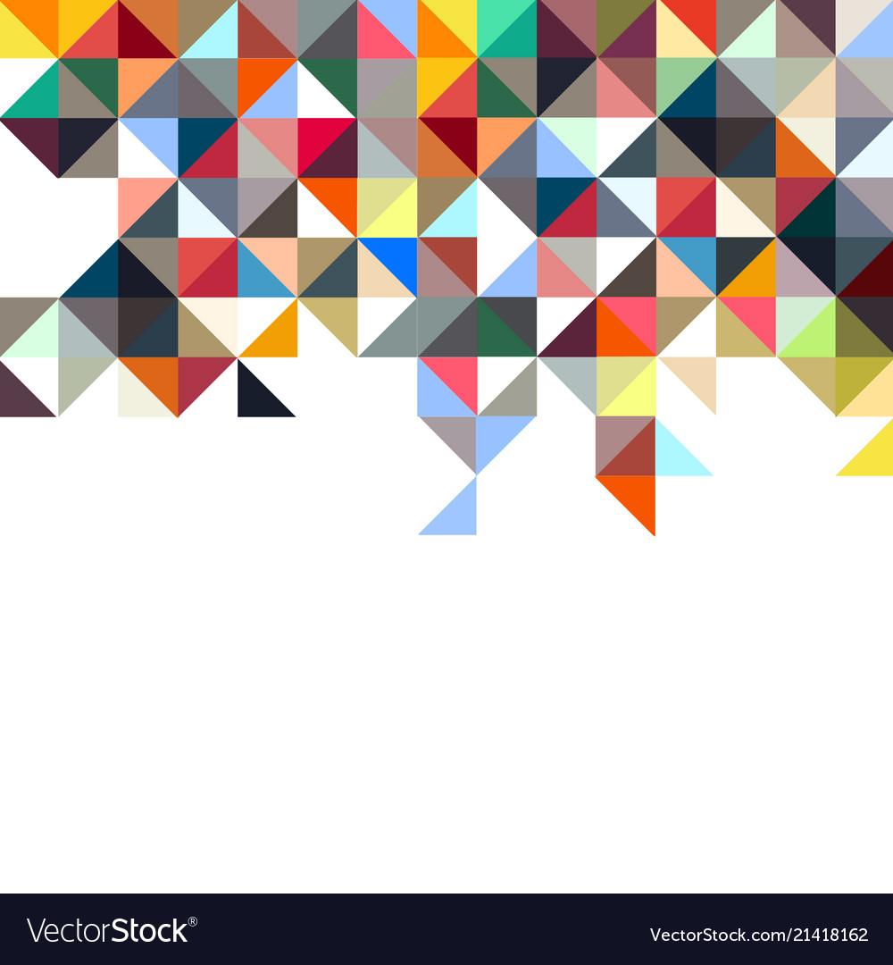 Background of geometric shapescolorful mosaic