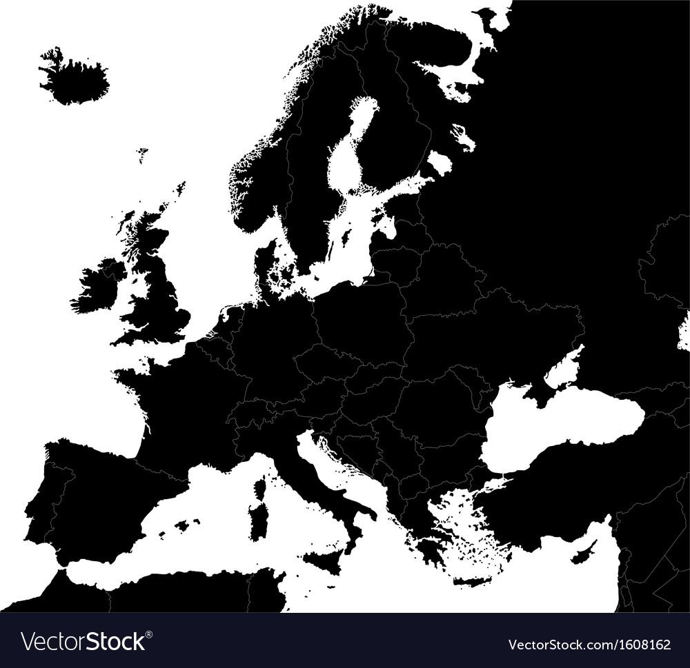Black Europe map