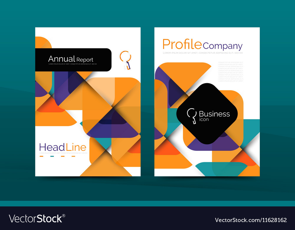 Business Company Profile Brochure Template Vector Image