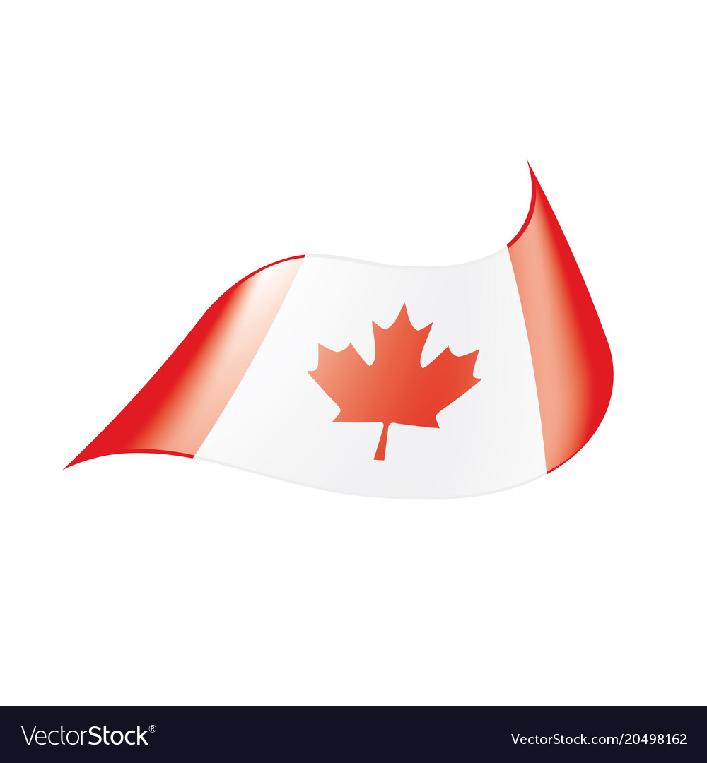 canada flag royalty free vector image vectorstock rh vectorstock com canada flag vector eps canada flag vector eps