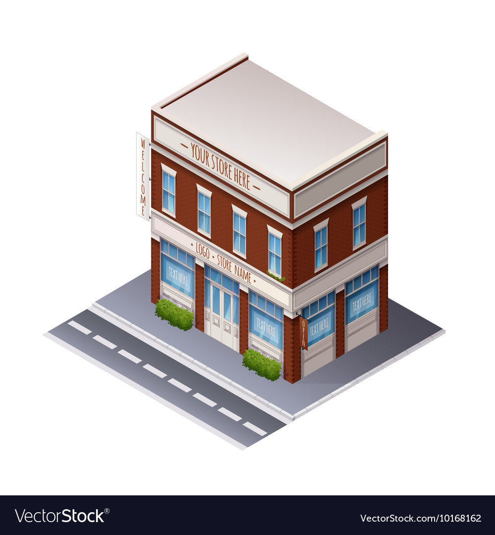 Color Isometric Building