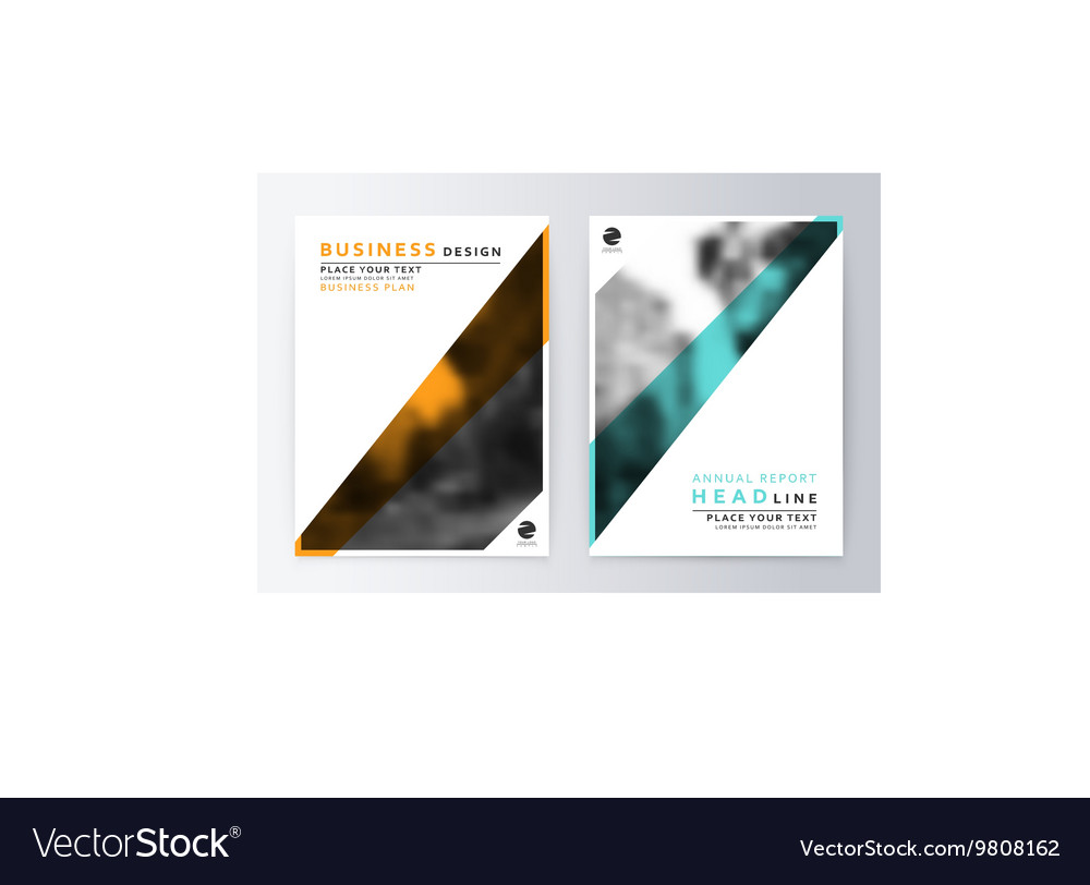 Cover design blue and yellow Template brochure vector image