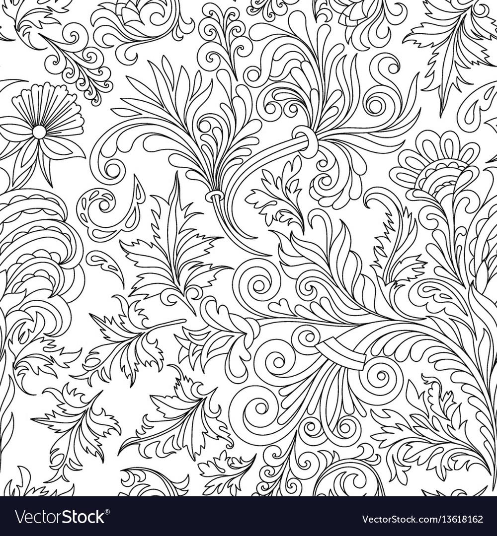Decorative vintage flowers seamless pattern good