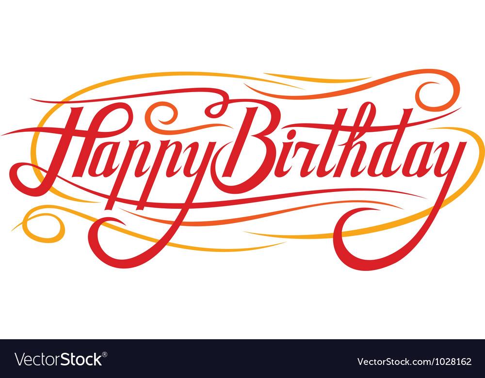 Happy Birthday Royalty Free Vector Image Vectorstock
