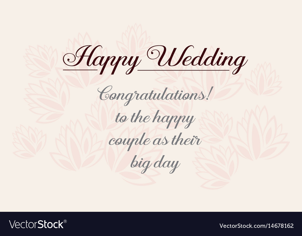 happy wedding greeting card design style vector image - Wedding Greeting Cards